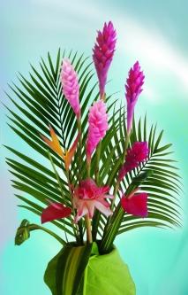 Bouquet de fleur tropicale & feuillage (14 tiges)