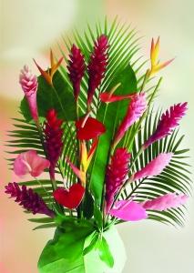 Bouquet de fleur tropicale & feuillage (24 tiges)